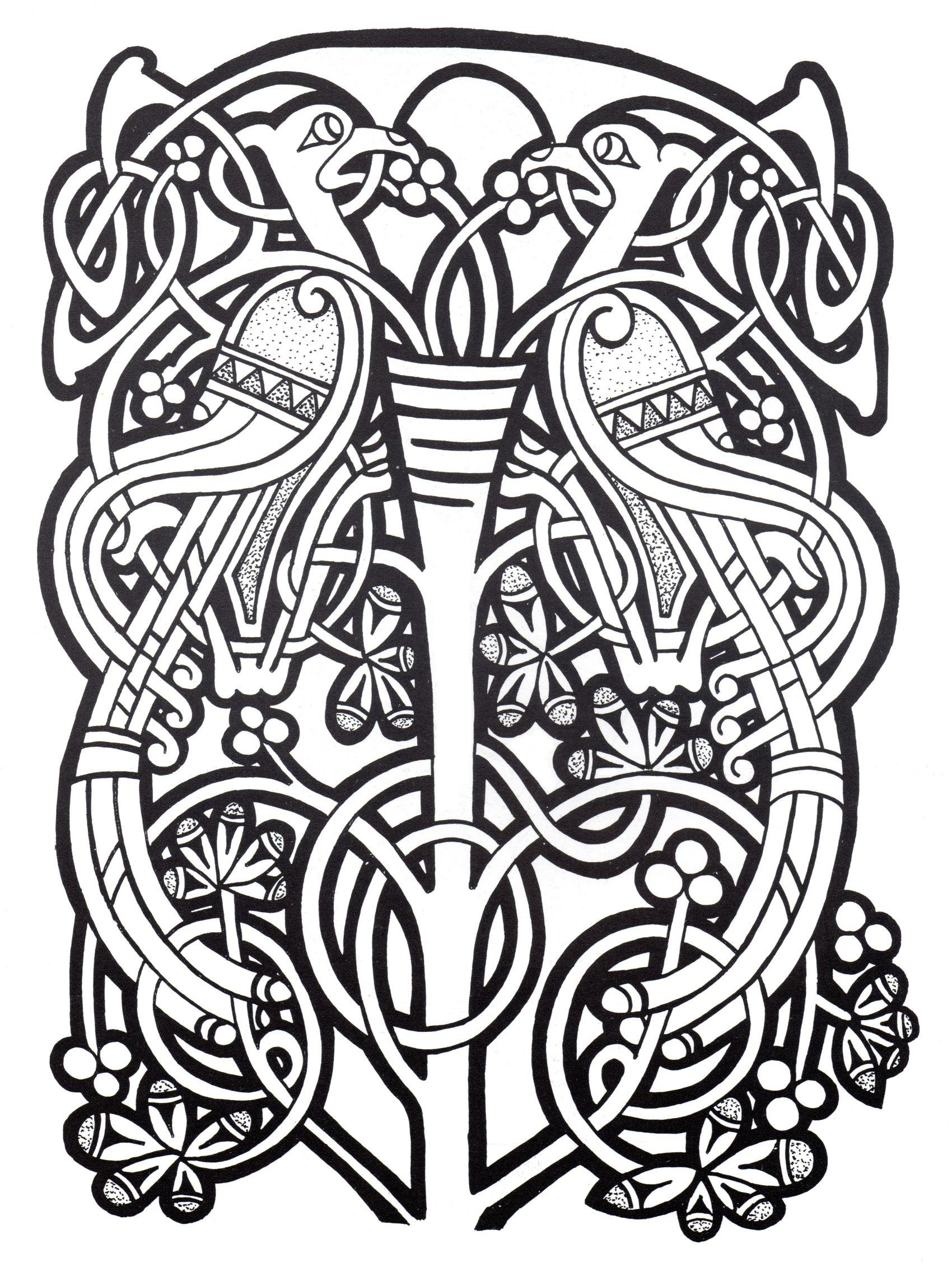 Complex abstract Celtic art design