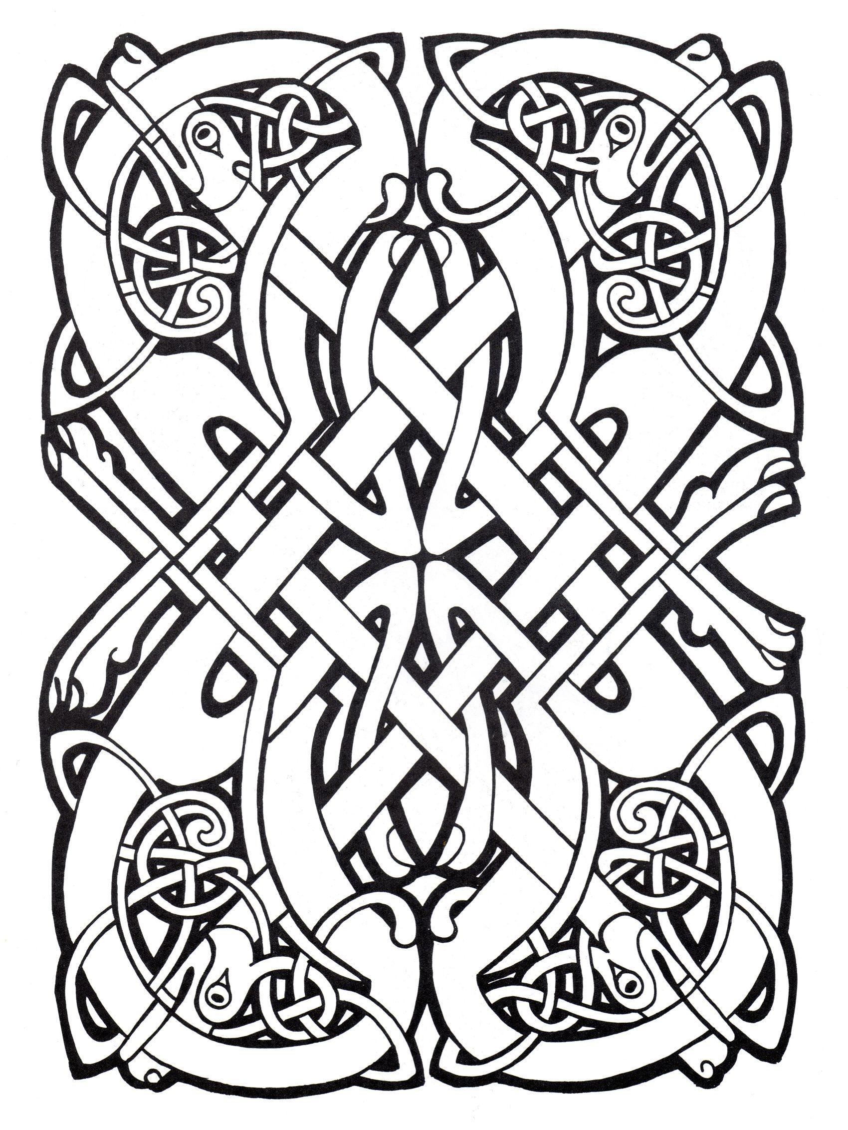 - Celtic Art 39 - Celtic Art Adult Coloring Pages