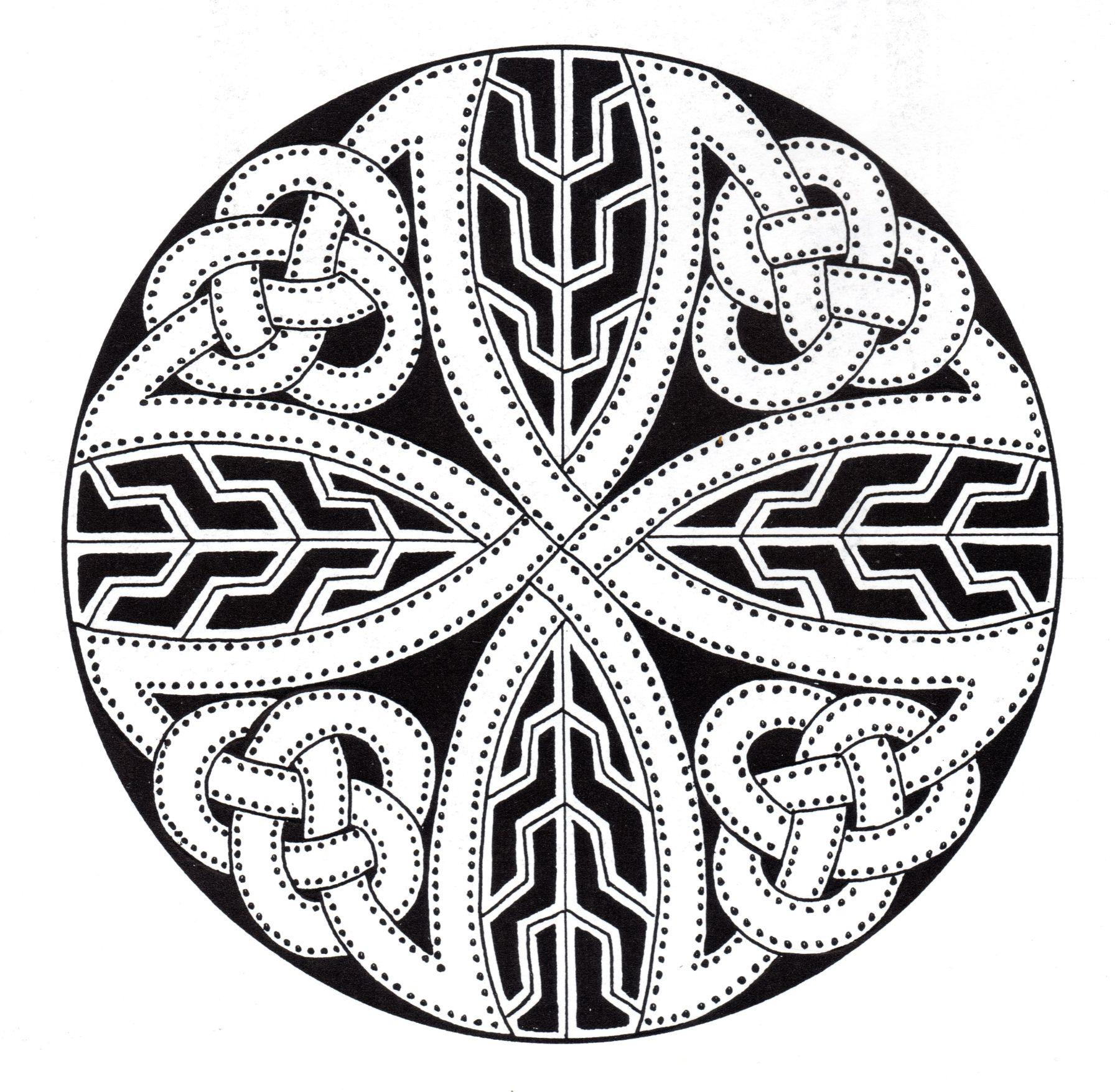 Complex abstract Celtic art design looking like a Mandala