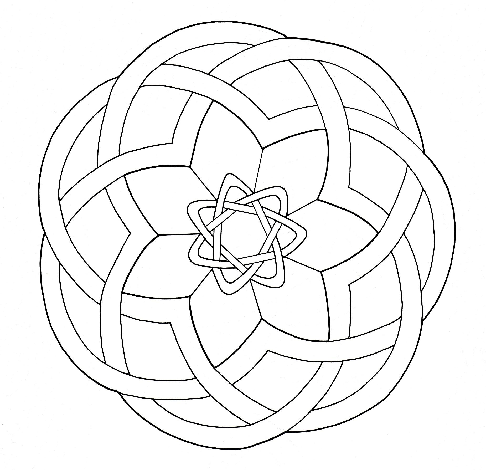 Intricate Design inspired by Celtic Art, looking like a simple Mandala