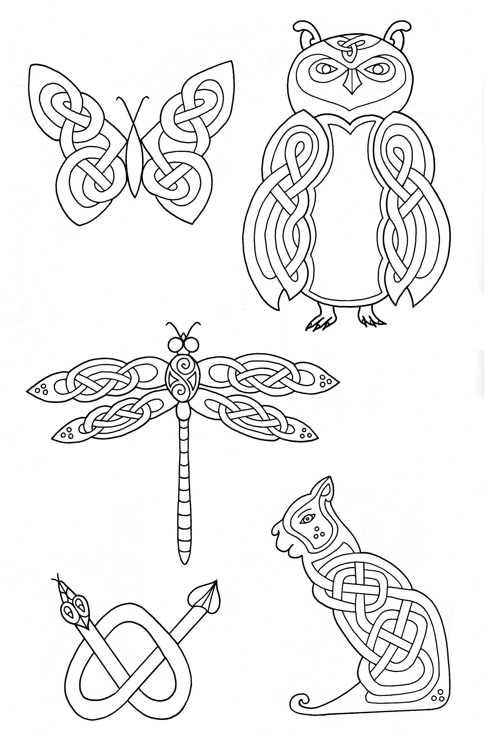 5 animals inspired by Celtic Art