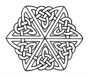 coloring celtic art 1 - Celtic Coloring Pages