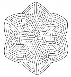 Coloring celtic art 44
