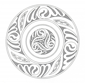 coloring celtic art 5