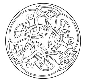 Coloring celtic art 58