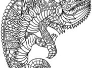 Chameleons and lizards Coloring Pages for Adults