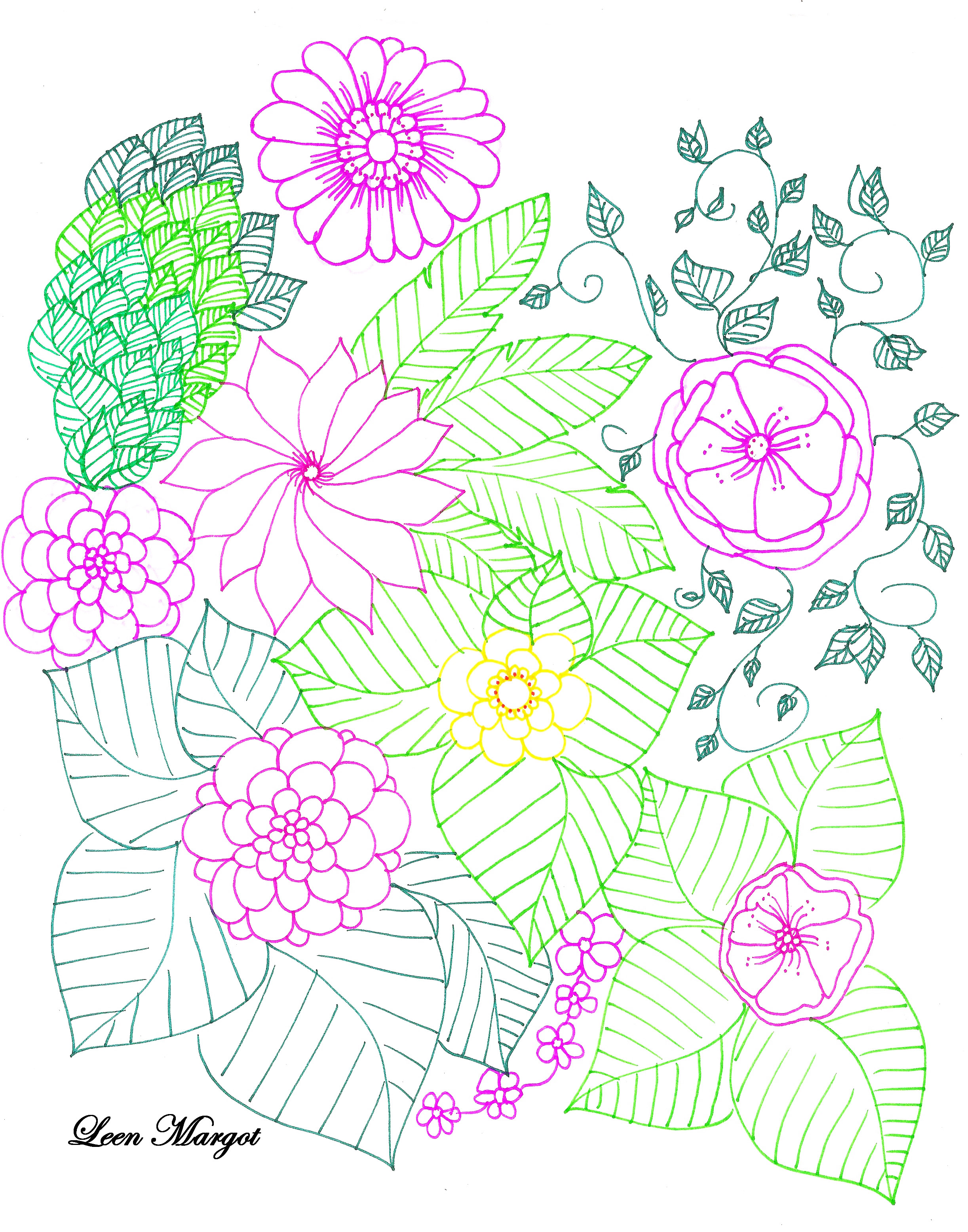 Made by Leen Margot, this coloring page will give you a good time !