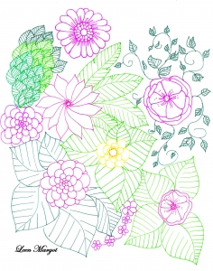 Coloring page adults colorzen leen margot1