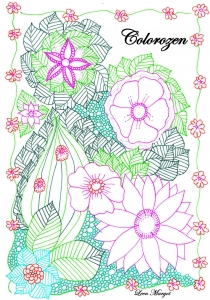 coloring page adults colorzen leen margot2