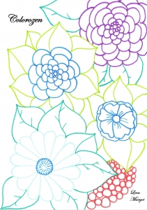 coloring page adults colorzen leen margot3