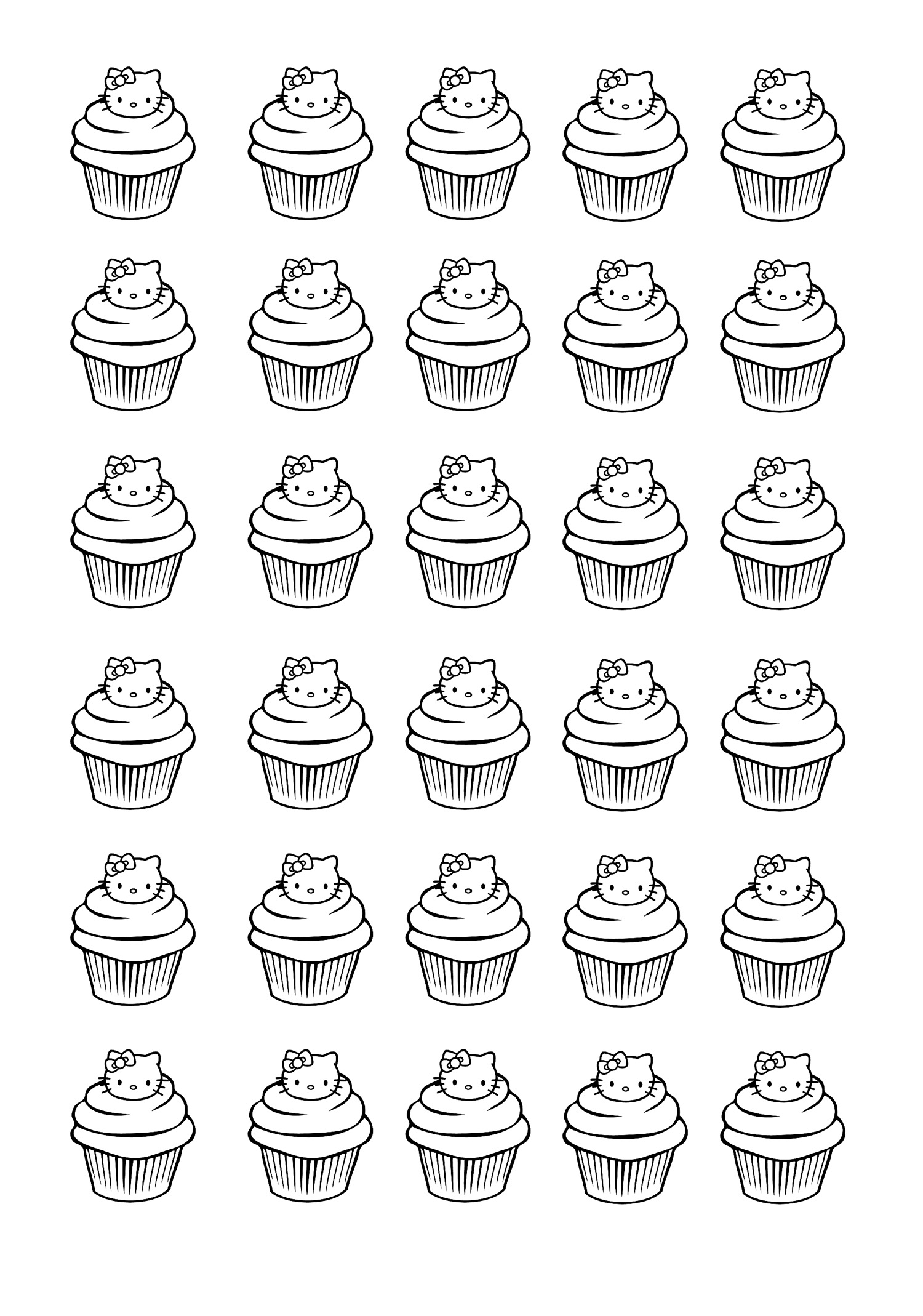cupcakes hello kitty cupcakes adult coloring pages