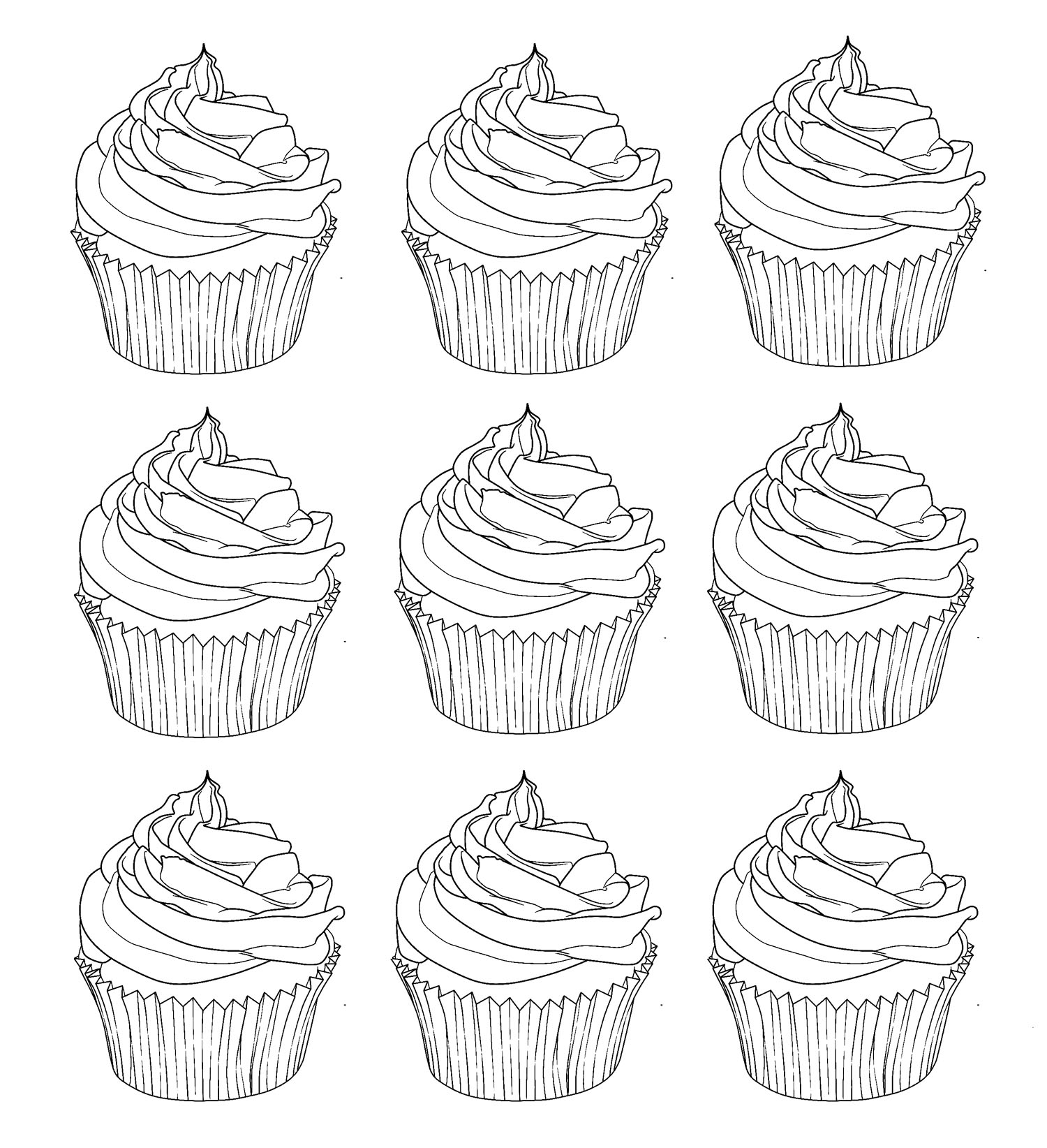 cake pop coloring pages - photo#21