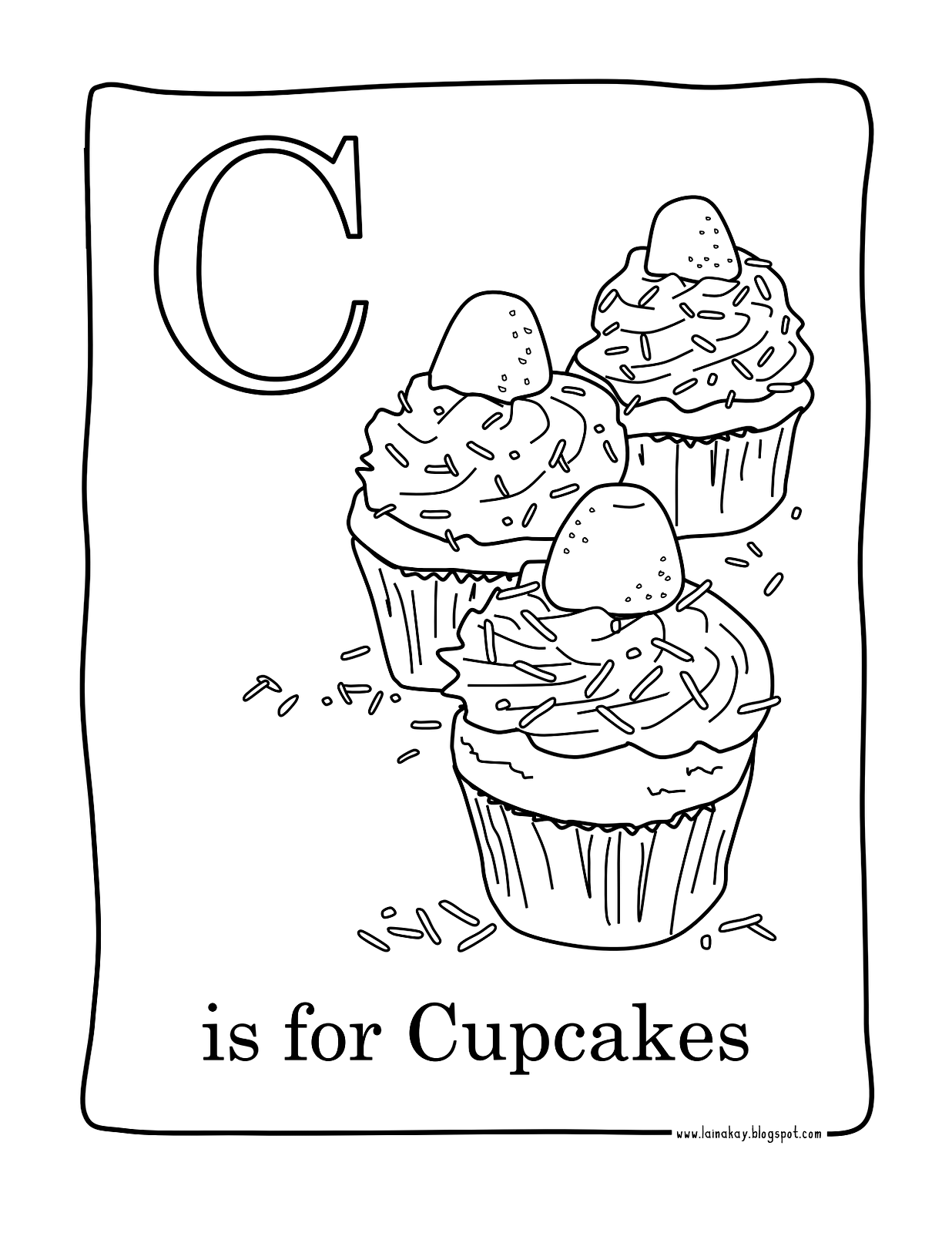 Learning the alphabet with cupcakes