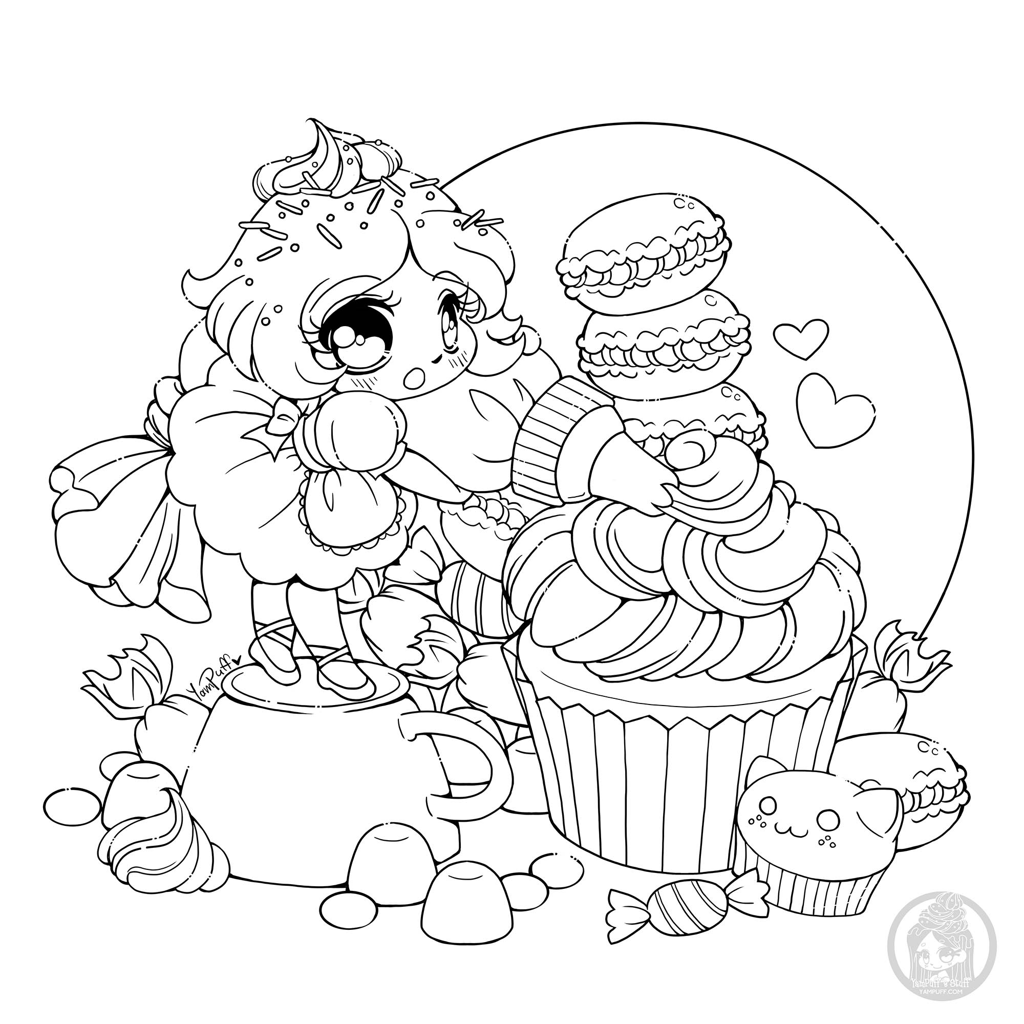 Frosting fairy - Cupcakes Adult Coloring Pages