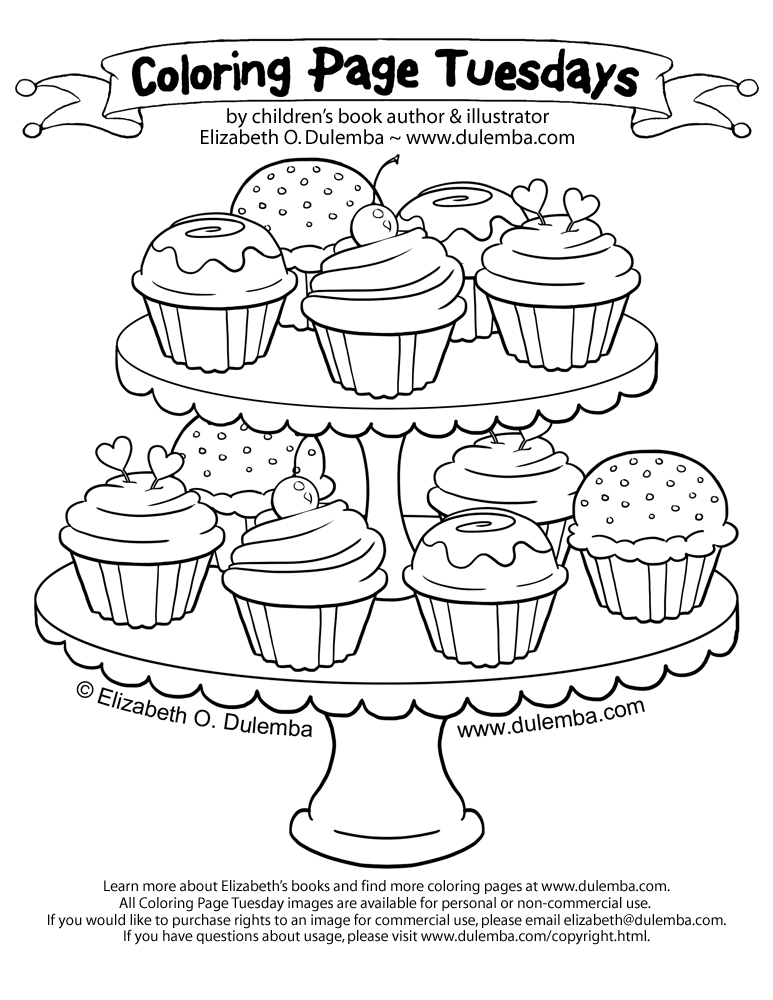 print - Cupcake Coloring Pages