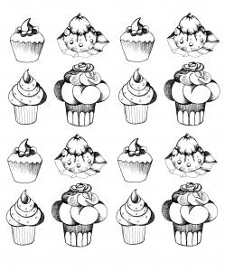 Appetizing cupcakes