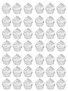 coloring-cupcakes-warhol-difficult free to print