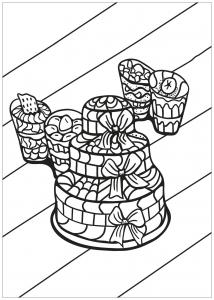 Coloring free book cupcake 12