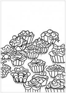 Coloring free book cupcake 3