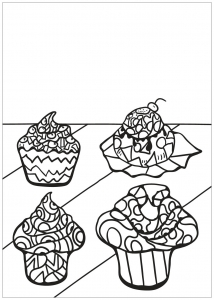 Coloring free book cupcake 8