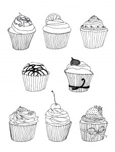 coloring free cupcakes