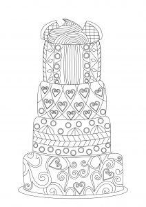 Big lacy cake