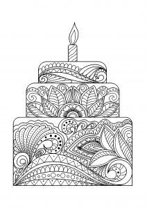 Big flowery cake