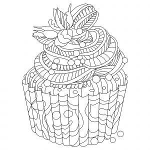 Small Doodle cupcake
