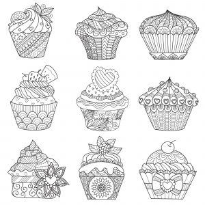 Assortment of cupcakes