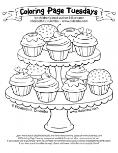 cupcakes coloring pages 125 free to print - Cupcakes Coloring Pages