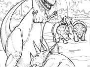 Dinosaurs Coloring Pages for Adults