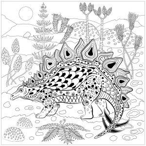 Stegosaurus in nature