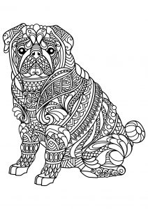 Coloring free book dog bulldog