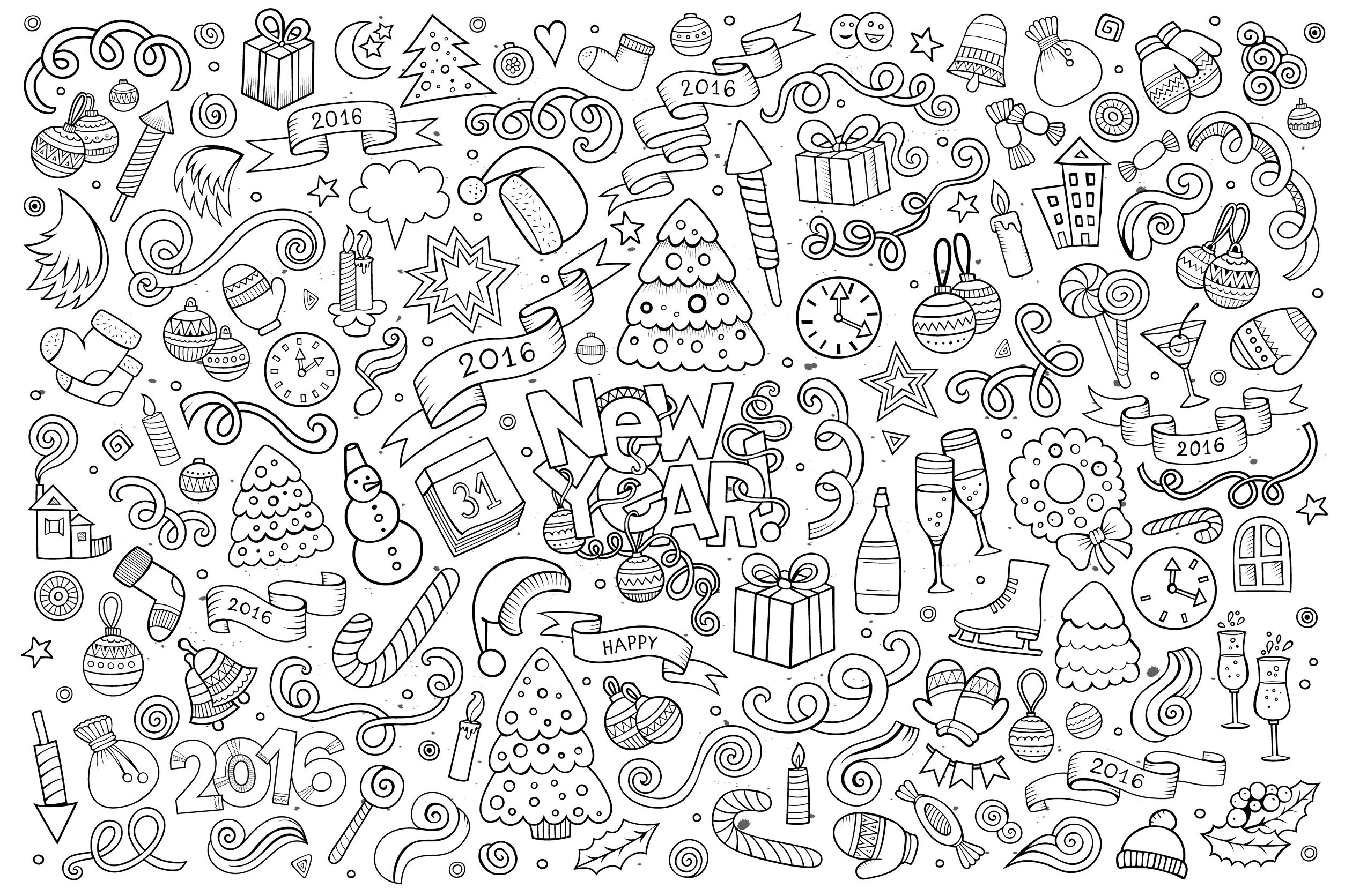 doodle happy new year 2016 by balabolka most recently added
