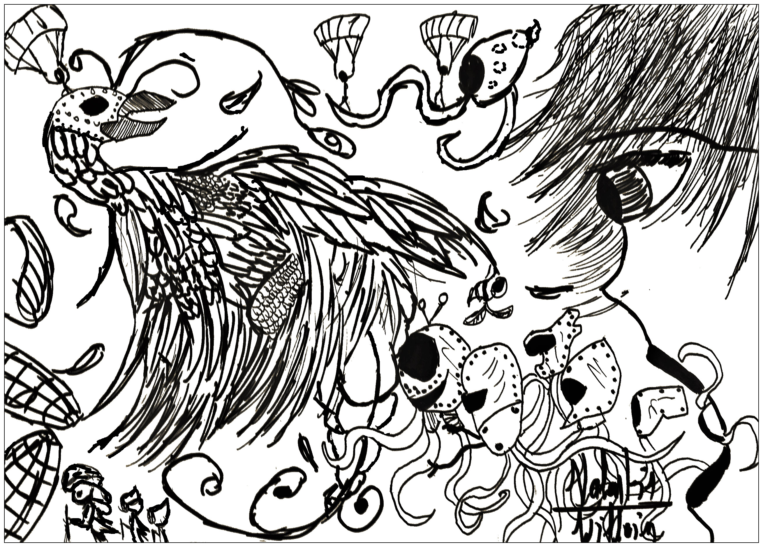 Coloring pages artist - Here Is A Doodling Very Crazy By Valentin From The Gallery Doodling