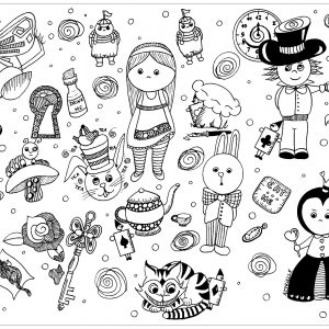 A Wonderful Coloring Page Inspired By The Incredible World Of Alice
