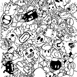 Kawaii coloring pages coloring pages for adults justcolor for Virtual coloring pages