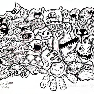 Coloring Doodle Monsters By Bon Arts