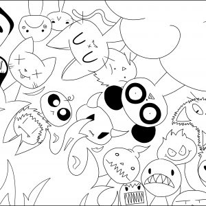 coloring page adult Hell & Paradise
