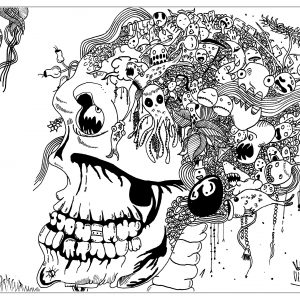 Skull Coloring pages Coloring pages for adults JustColor
