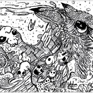 This Original Doodle Represent An Owl Coloring Page Adults Valentin 1