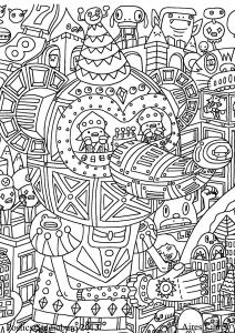 Coloring doodle art doodling 10