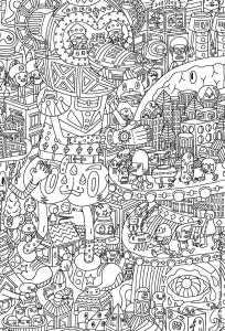 Coloring doodle art doodling 13