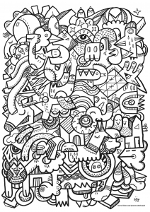 Doodling Doodle art Coloring pages for adults JustColor Page 3