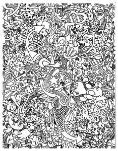 Coloring doodle art doodling 18