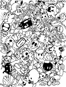 Coloring doodle art doodling 5