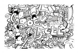 Coloring doodle art doodling 8