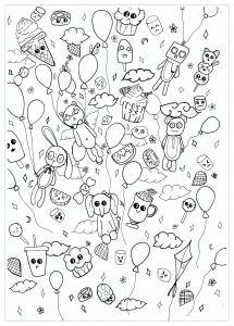 Coloring kawaii doodle by chloe