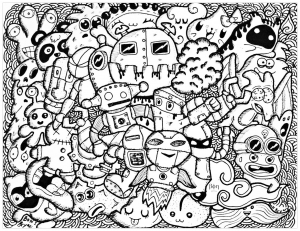Doodling  Doodle art  Coloring pages for adults  Page 2