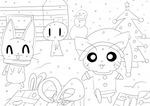 coloring-page-adult-christmas-in-cartoon-world